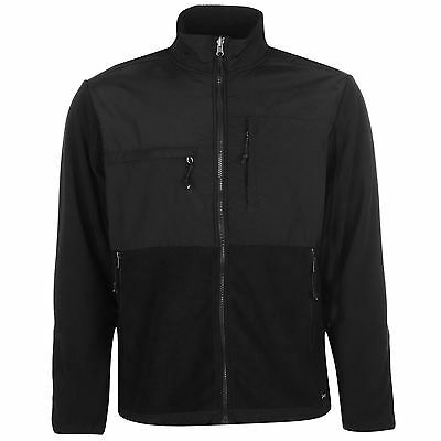 Gelert Mens Hybrid Fleece Jacket Top Sweatshirt Full Zip High Neck Chest Pocket