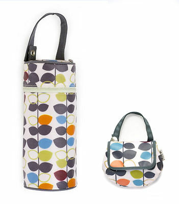 JJ Cole Collections. Pacifier Pod or Insulated Baby Bottle Case. Mixed Leaf
