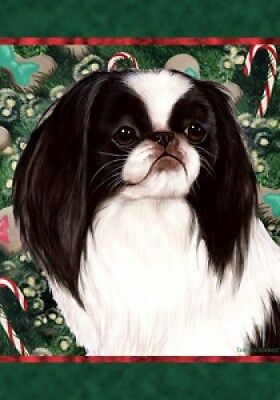 Garden Indoor/Outdoor Holiday Flag - Japanese Chin 141331