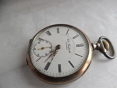 a fine antique silver - 800- cased top wind pocket watch