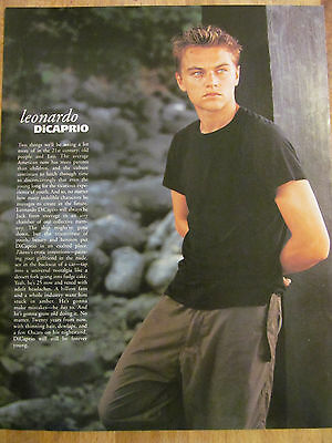 Leonardo DiCaprio, Full Page Vintage Pinup Clipping