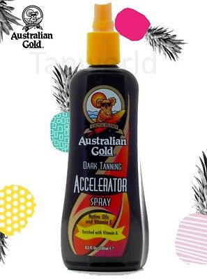 Australian Gold Dark Tanning Sun bed Accelerator Spray on Lotion + Free Goggles