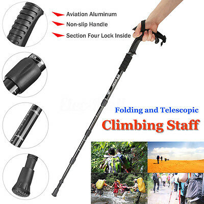 Adjustable Magic Cane Folding Safety Walking Stick 4 Section Glow Grip Handle