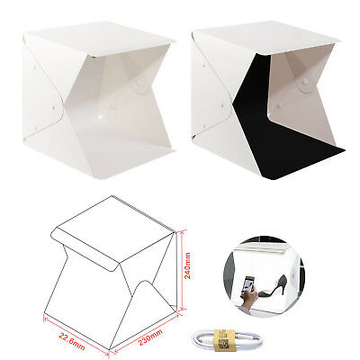 Photo Studio Tent Mini Photography Light Box 8.8x9.0x9.4 in LED Portable Mini Fo