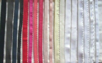 Plush Back Picot / Scallop edge Elastic  various colours / widths  , 2m or 5m