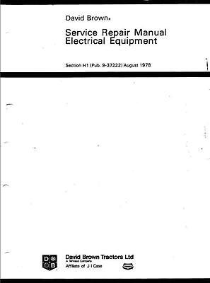 David Brown Electrical Repair Workshop Manual Printed