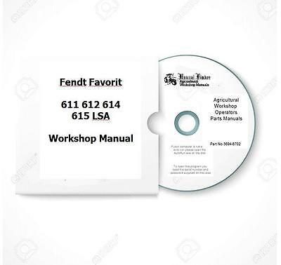 Fendt Favorit 611 612 614 615 LSA Workshop Manual  Digital