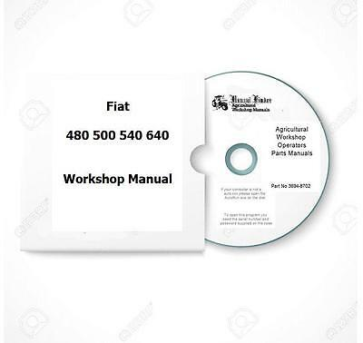 Fiat incl DT 480 500 540 640 Workshop  Manual  Digital