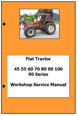 Fiat 90 series 45 55 60 70 80 90 100 Workshop  Manual Printed
