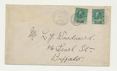 "CANADA 1913 ""HOUSE OF ASSEMBLY"" CDS ON COVER TO BUFFALO, 2x1c RATED"