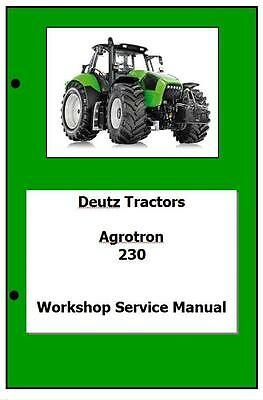 Deutz Agrotron 230 260 Workshop Manual Printed