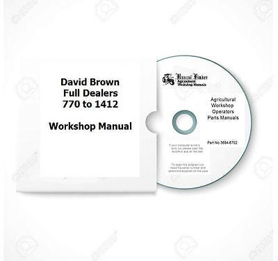 David Brown FULL DEALERS 770 to 1412 Workshop Manual Digital