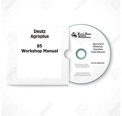 Deutz AgroPlus 75 85 95 100 Workshop Manual Digital