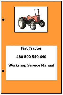 Fiat incl DT 480 500 540 640 Workshop  Manual Printed