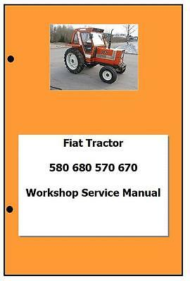 Fiat incl DT 580 680 570 670 Workshop  Manual Printed