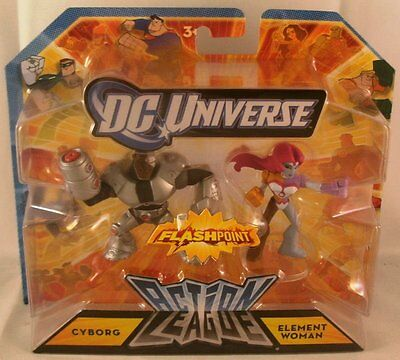 DC UNIVERSE ACTION LEAGUE CYBORG /& ELEMENT WOMAN *NEW*