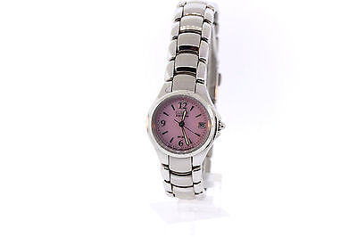 Ladies Citizen EW1170-51X Eco-Drive Silhouette Stainless Steel Pink Dial Watch