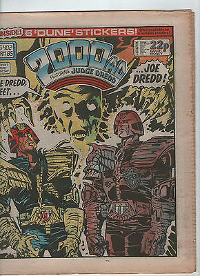 2000Ad Prog. # 402 + Free Gift-Dune Stickers ( Scarce 1985 )