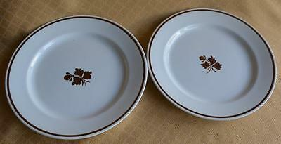 4 Alfred Meakin royal ironstone copper tea leaf luncheon plates 9""