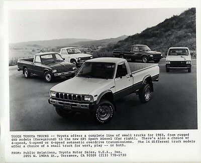 1983 Toyota 4WD SR5 Sport Diesel Pickup Truck ORIGINAL Factory Photograph wy1882