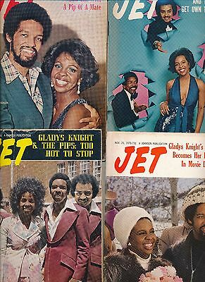 Lot (14) Jet Magazines Gladys Knight No Mailing Labels 1974 1975 Excellent Cond