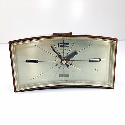 Vintage GE Alarm Clock Retro Mid Century Lighted Dial Made In USA Tested Works