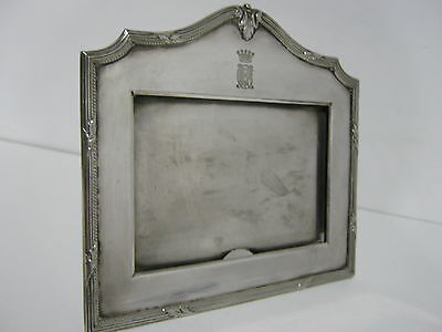 Vintage Mappin And Webb Silver  Plate Picture Frame Crown Armourial And Monogram