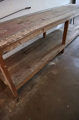 Very large antique kitchen table/bench