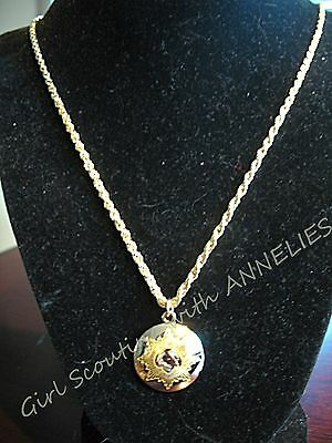 NECKLACE, NEW Girl Scout GOLD AWARD, Lovely GIFT Boston Twist Chain MINT in Box