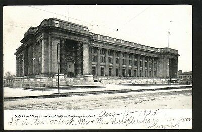 Indianapolis, Ind., U.s. Court House And Post Office - 1905