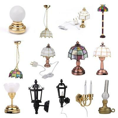 12th Dollhouse Miniature LED Wall/Floor/Ceiling Lamp Room Furniture Collections