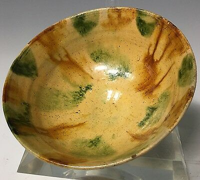 VERY RARE CHINESE TANG TO SONG DYNASTY Sancai GLAZED BOWL