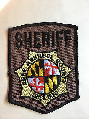 Anne Arundel  County  Maryland Sheriff  Shoulder  Patch