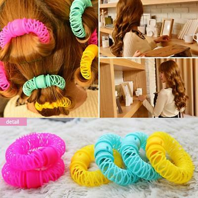 6/8 Pcs Hairdress Magic Bendy Hair Styling Roller Curler Spiral Curls DIY Tools