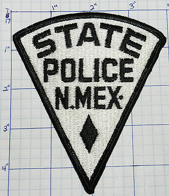 "New Mexico State Police White 4.75"" Patch"