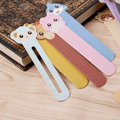 30 PCs/lot & School Supplies Bookmark Scale Shape Bookcase Ruler Animal Farm