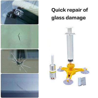 Car Auto Glass Windshield Windscreen Instrument Repair Kit DIY Glass Repair.Tool