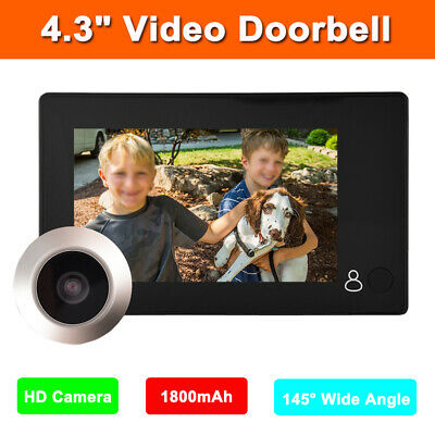 "3""/4.5"" TFT LCD Smart Peephole Viewer 145° Video Door Eye Doorbell 2MP IR Camera"