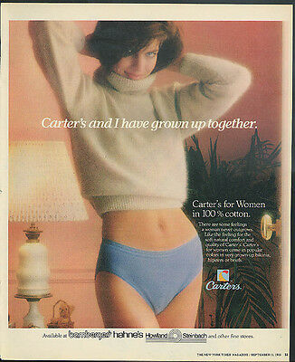 Carter's and I have grown up together. Carter's Panties ad 1985