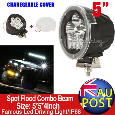 "5""inch 120W CREE Spot Flood Combo LED Driving HID Light 4WD 4X4 Truck SUV 9"""