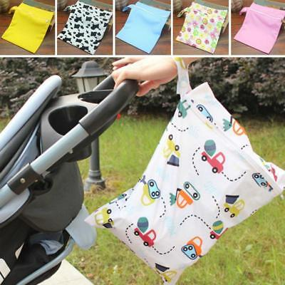 Water Proof Reusable Baby Cloth Diaper Nappy Wet & Dry Bags Swimmer Zipper Tote