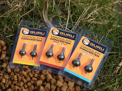 Guru Pellet Waggler Float Converters NEW Coarse Fishing  2pcs *All Sizes*