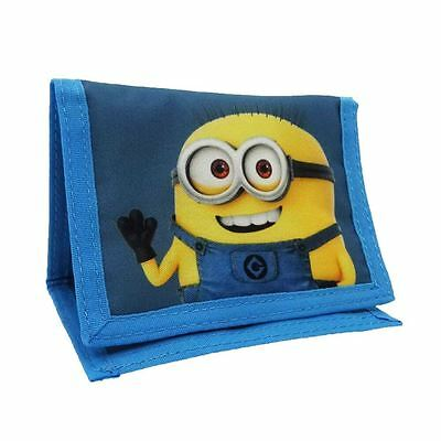 Official Children's Despicable Me Minions Character Blue Coin Pouch Wallet