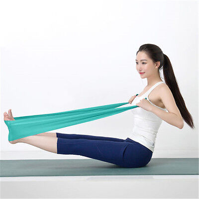 1.5m Yoga Stretch Resistance Bands Exercise GYM Physio Fitness Elastic TPE