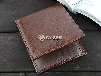 Men Leather Wallet Pocket Coin Card Money Holder Clutch Bifold Slim Purse -Gift