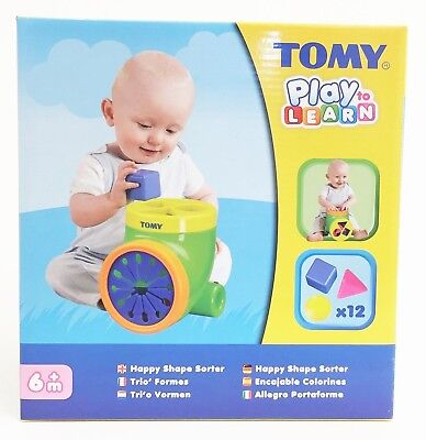 Tomy 6633 Play to Learn - Happy Shape Sorter - Baby Development Toy