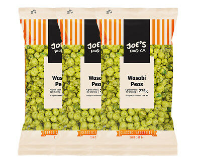 3 x Joe's Food Co. Wasabi Peas 275g