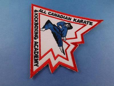 Kick Boxing Academy All Canadian Karate  Patch Cloth Fighting Collector