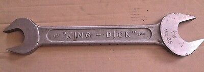 """Vintage King Dick Open Ended Whitworth BS Spanner 7/8W x 1""""W - 1""""BS x 1""""1/8BS"""