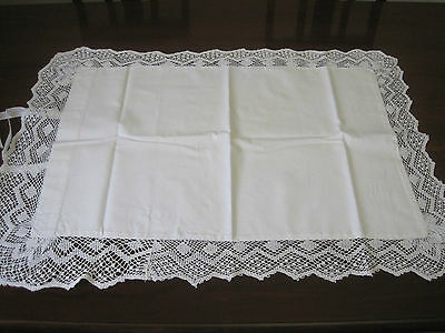 Lovely Antique Lace Edged Pillowcase